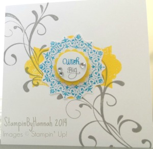 Stampin Up! UK Stampinbyhannah Wish Big Everything Eleanor