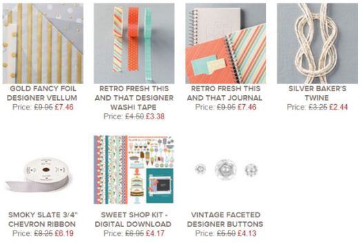 Stampin Up! Weekly Deals UK