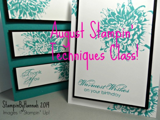 Stampin' Techniques class August 2014