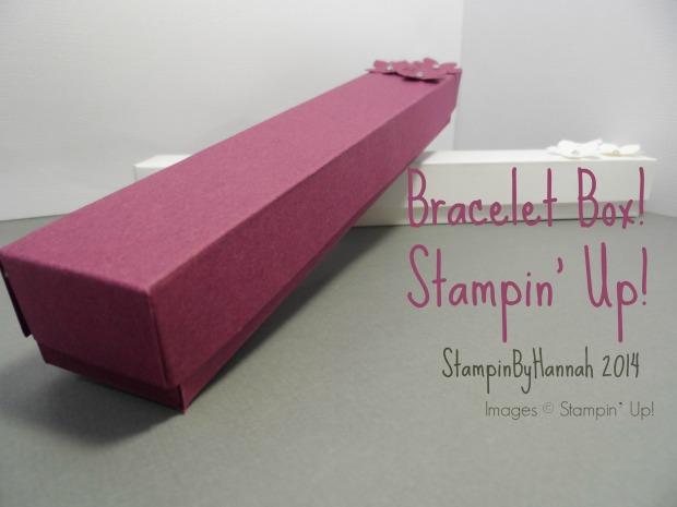 Stampin Up UK Bracelet Box tutorial