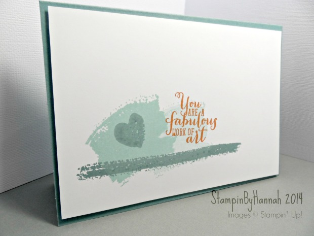 Stampin Up UK Fabulous Work of Art