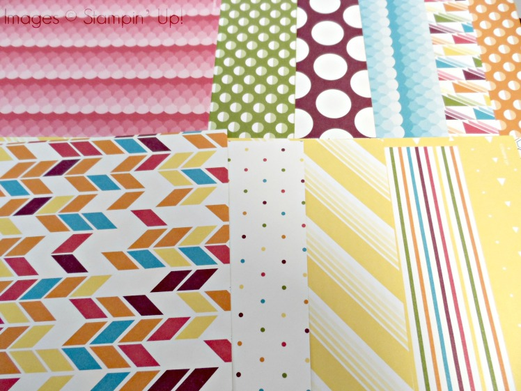 Stampin Up! Sweet Taffy DSP