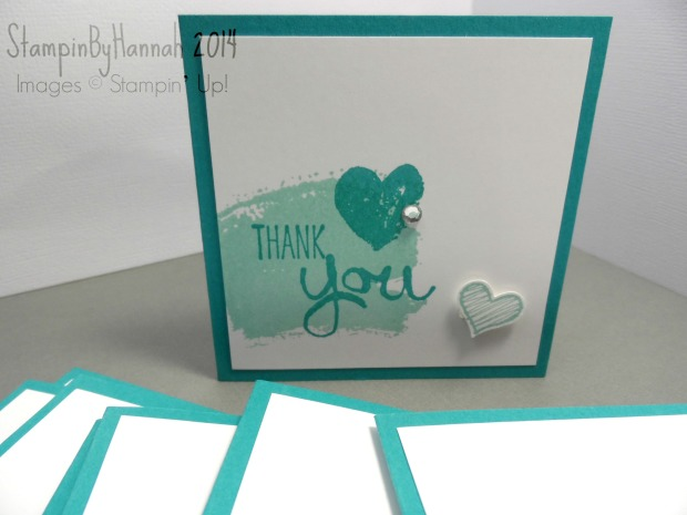3x3 Thank you note cards