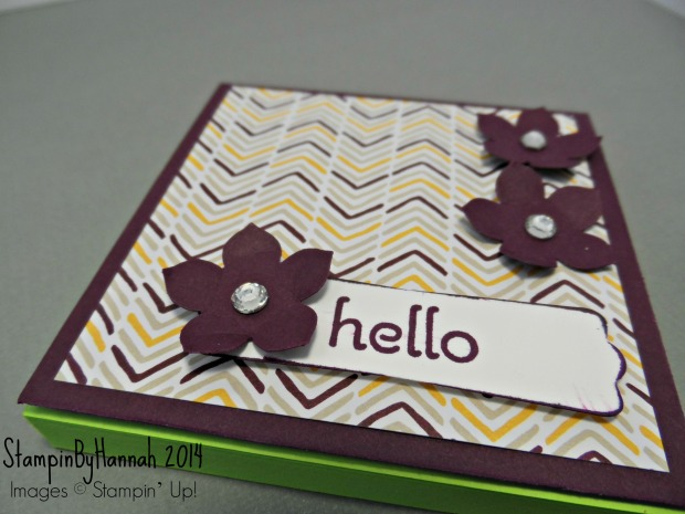 Sticky note holder stampin up