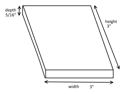 sticky note measurements
