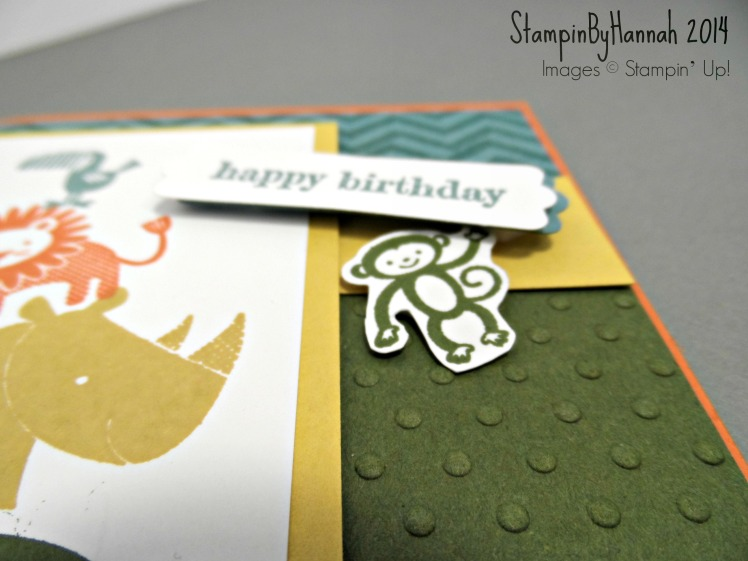 Stampin Up Zoo Babies