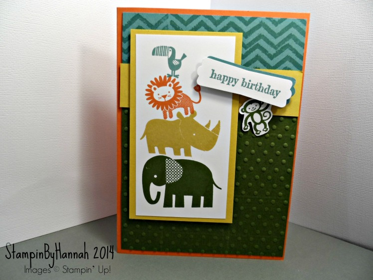 Stampin Up! Zoo Babies
