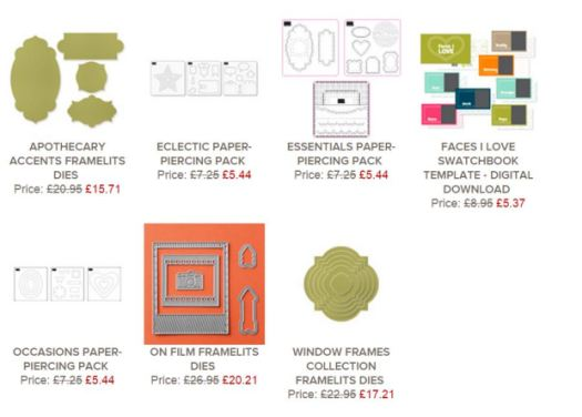 stampin up uk weekly deals