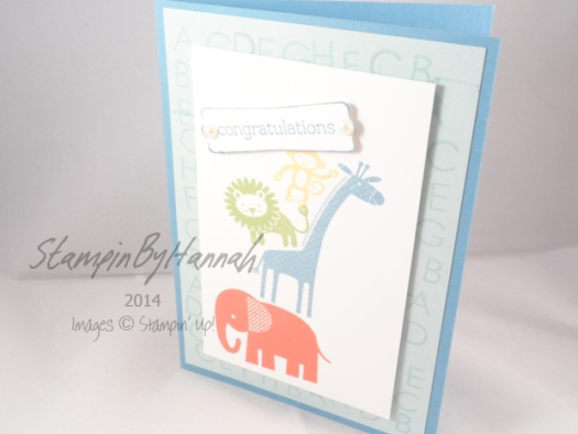 Stampin' Up! UK Zoo Babies Back to Basics Alphabet