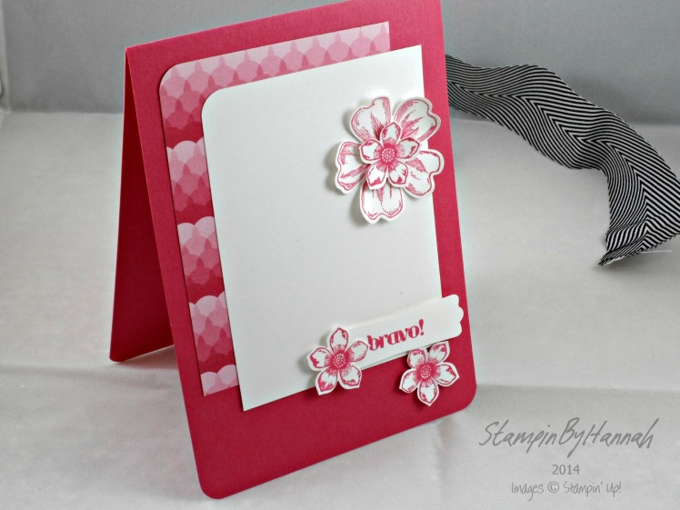 Stampin Up Melon Mambo Flower Shop Petie Petals