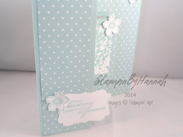 Stampin' Up! UK Centre Step Card