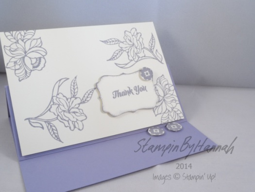 Stampin' Up UK Wisteria Wonder Bouquet Toss Thank You card