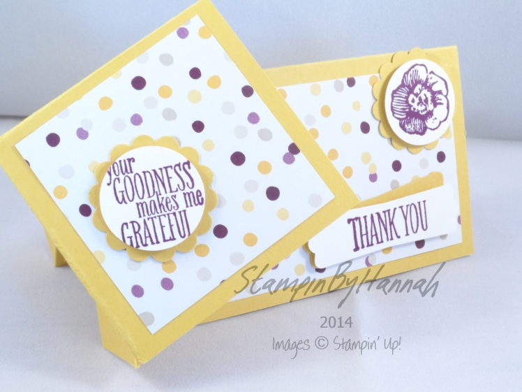 Stampin' Up! UK Twist Turn Card Gift card holder