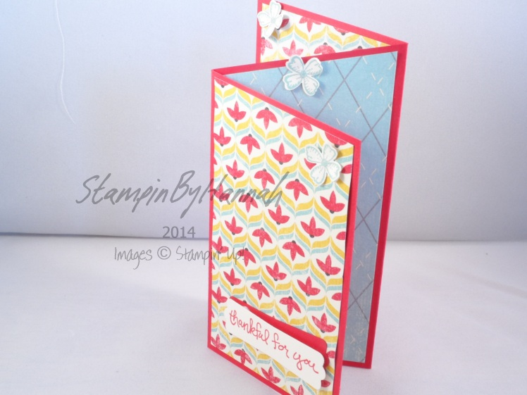 Stampin' Up! UK Zig Zag fold card Flashback DSP