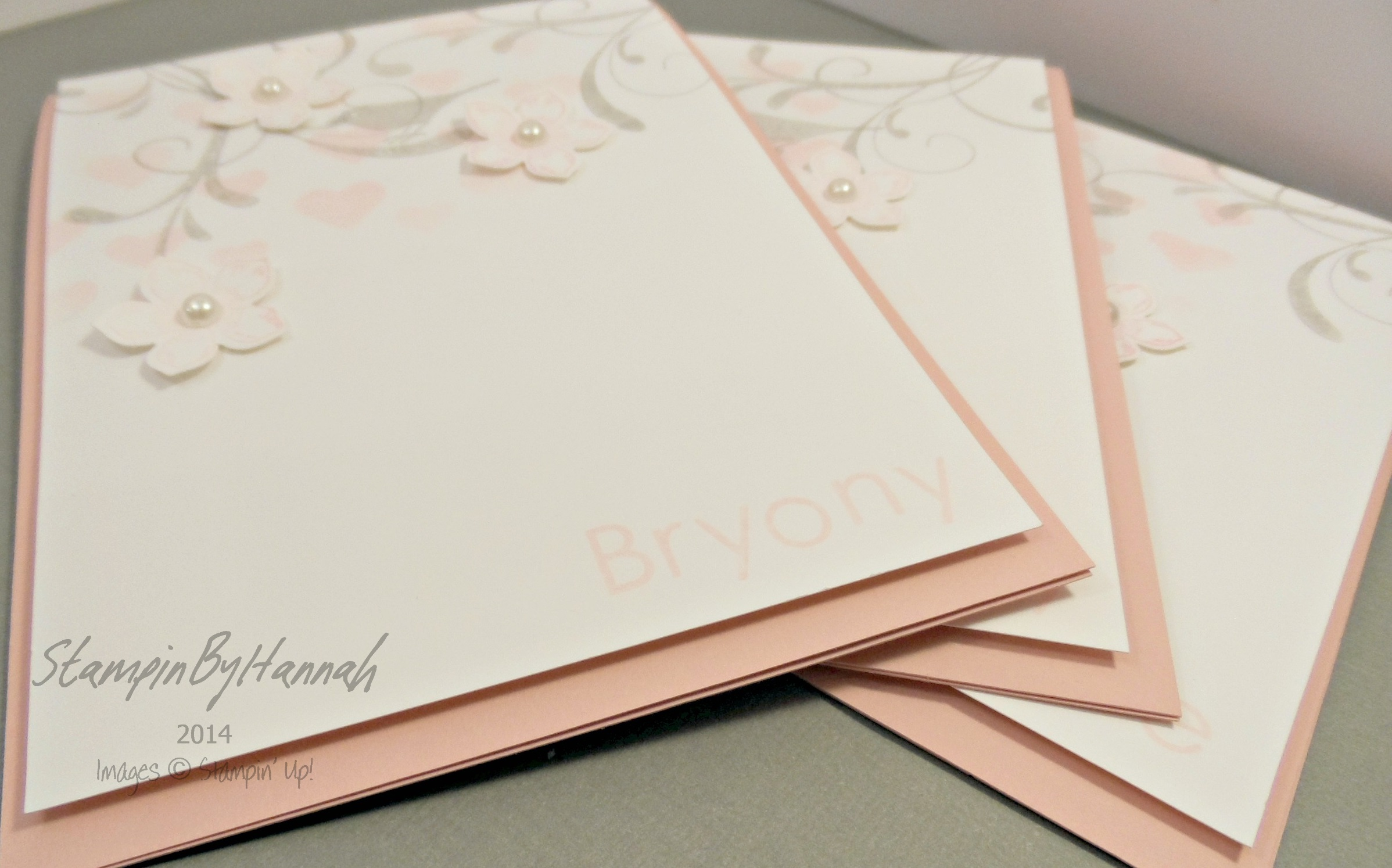 Personalised Wedding Cards StampinbyHannah Stampin Up UK