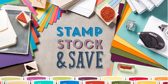 Stampin' Up! UK stamp stock and save