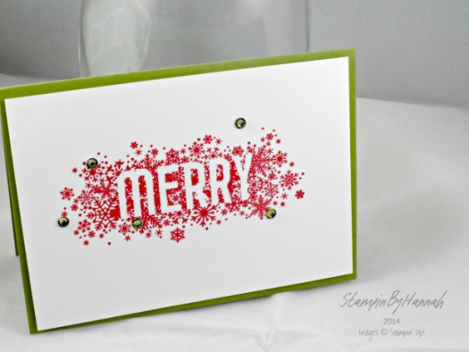 Stampin' Up! UK Seasonally Scattered Merry