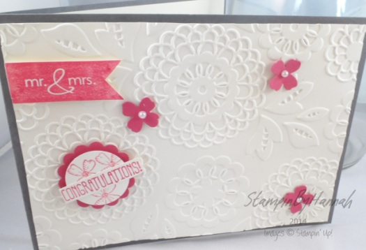 Stampin' Up! UK Wedding Congratulations Lovely Lace