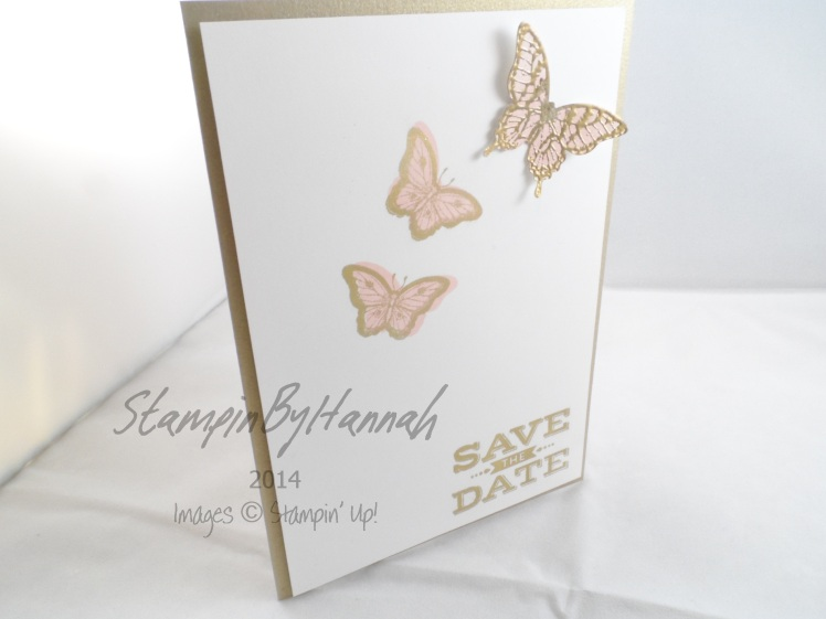 Stampin' Up! UK Save the Date Cheers to Love Butterflies