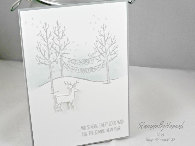 Stampin' Up! UK White Christmas dear