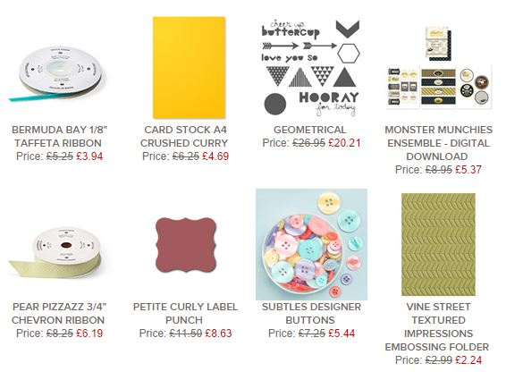 Stampin' Up! UK Weekly Deals