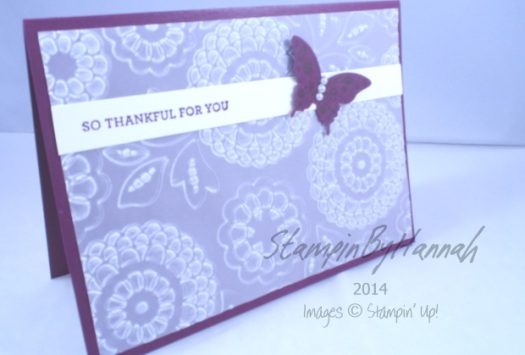 Stampin' Up! UK Blackberry Bliss Lovely Lace