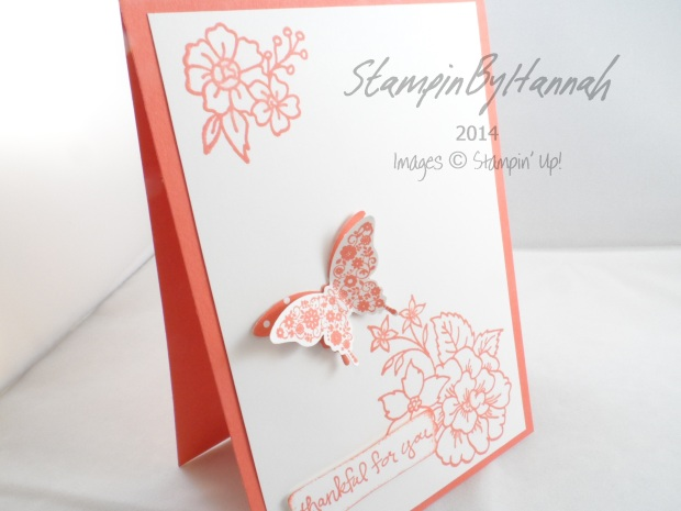 Stampin' Up! UK Calypso Coral Good Greetings
