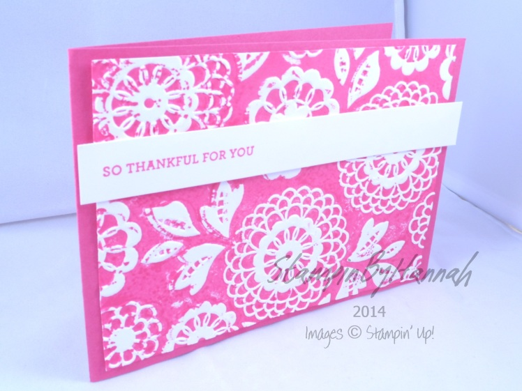Stampin' Up! UK Letterpress Lovely Lace