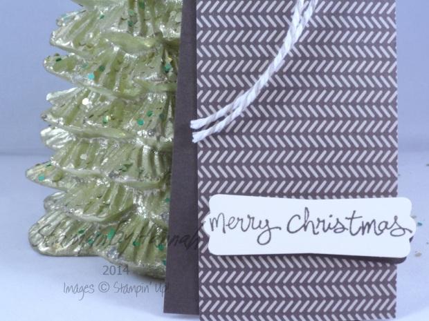 Stampin' Up! UK Espresso Trim the Tree Tag Good Greetings