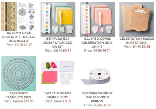 Stampin' Up! UK Weekly Deals 19th November 2014