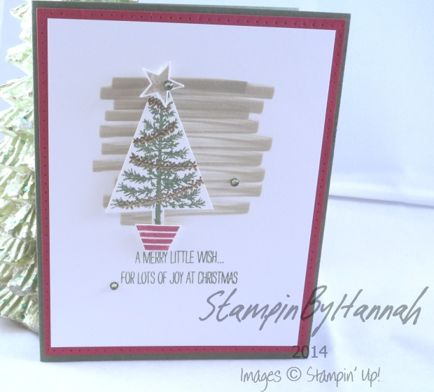 Stampin' Up! UK AW28 Festival of Trees Baked Brown Sugar Cherry Cobbler Mossy Meadow