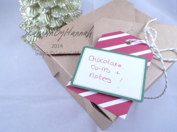 Stampin' Up! UK chocolate box takeout box