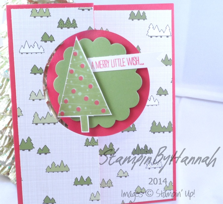 Stampin' Up! UK Circle Thinlit Festival of Trees