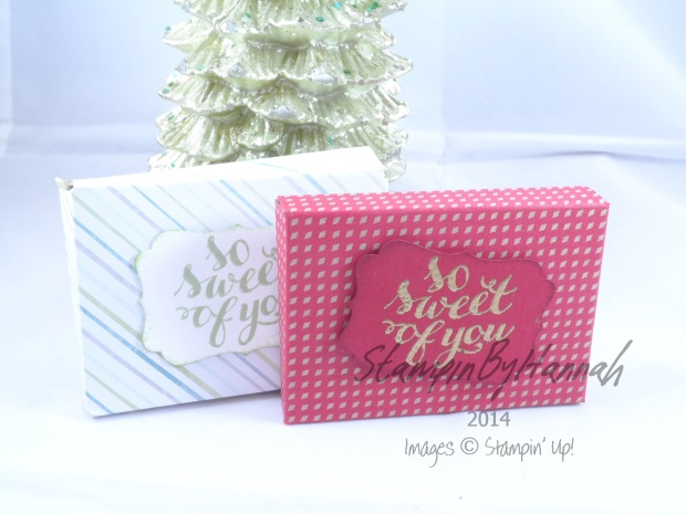 Stampin' Up! UK Galaxy Gift For You Chocolate DSP