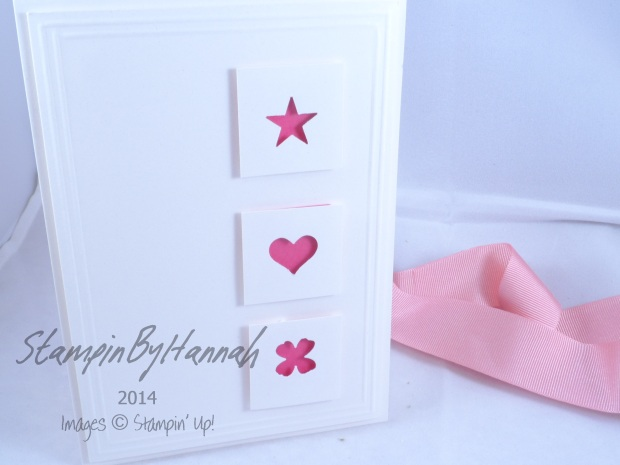 Stampin' Up! UK shimmery white card