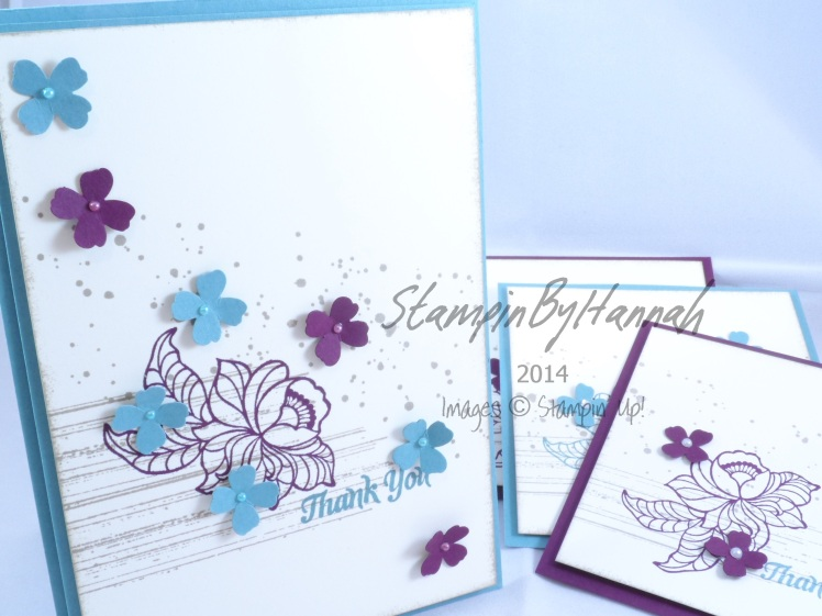 Stampin' Up! UK Sale-a-bration thank you card