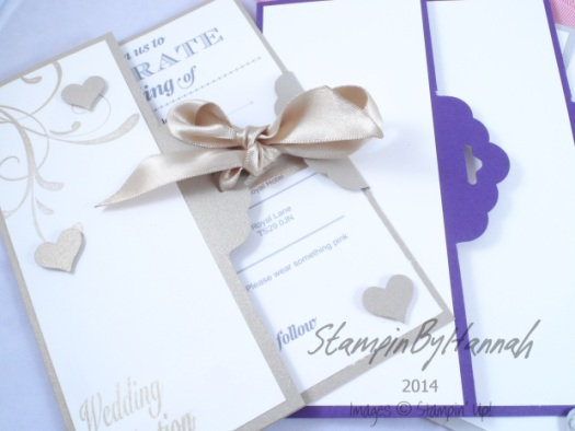 Stampin' Up! UK Scallop tag topper punch wedding card