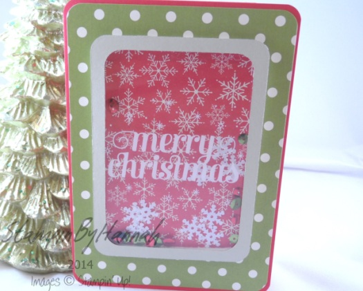 Stampin' Up! UK Project Life by Stampin' Up! Seasonal Snapshot shaker card