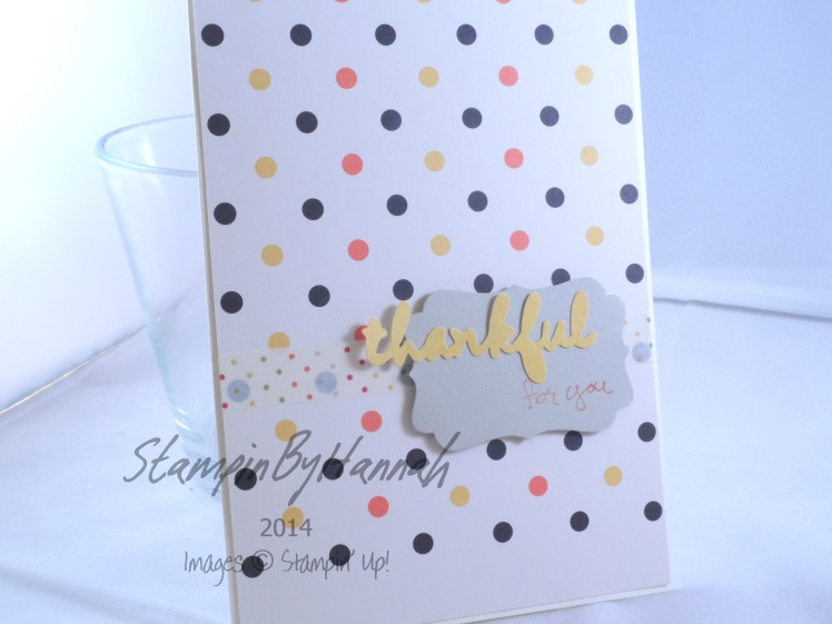 Stampin' Up! UK Project Life Thankful for you