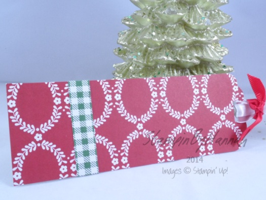 Stampin' Up! UK Christmas Tag Trim the Tree