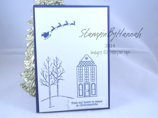 Stampin' Up! UK White Christmas Holiday Home