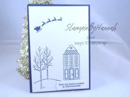 Stampin' Up! UK White Christmas Holiday Home