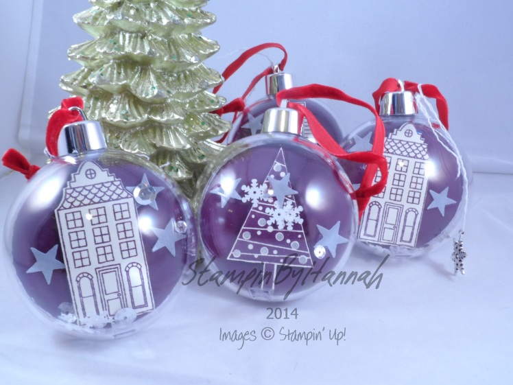 Stampin' Up! UK Christmas Baubles