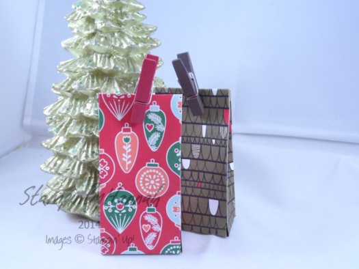Stampin' Up! UK Chocolate Treat bags for Christmas
