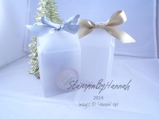 Stampin' Up! UK Vellum Milk carton bag