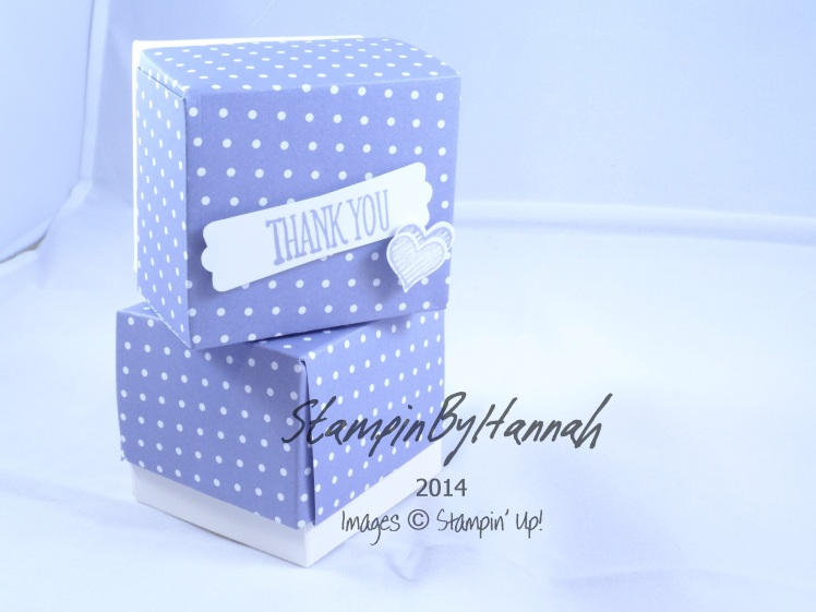 Stampin' Up! UK lided cube box envelope punch board