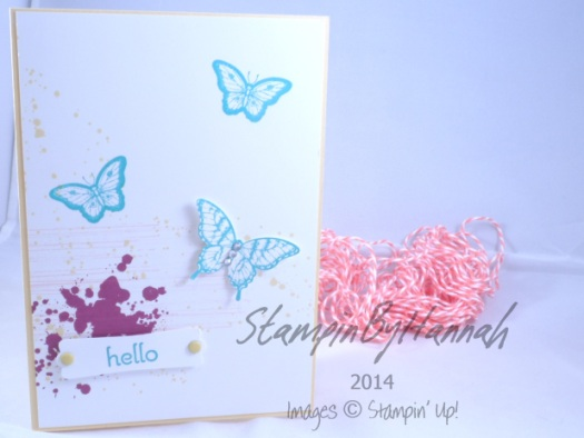 Stampin' Up! UK Hello A Dozen Thoughts Pallion Potpourri