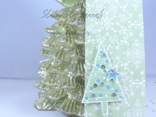 Stampin' Up! UK Letterpress Christmas tag