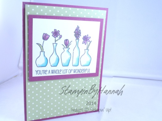 Stampin' Up! Vivid Vases Wonderful Blendabilities
