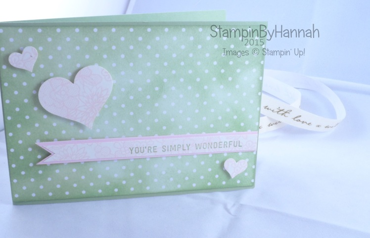Stampin' Up! UK AW32 Sketch Challenge entry